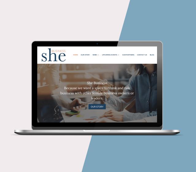 She Business website